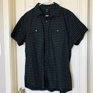 Casual Short Sleeve Button Down